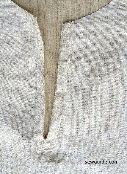 patrón de costura superior de jeans