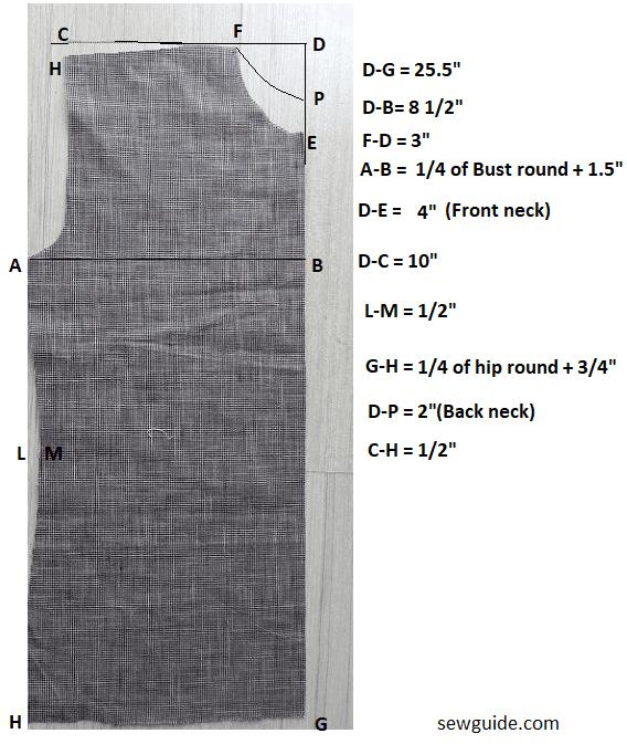 todos los días patrón de costura superior