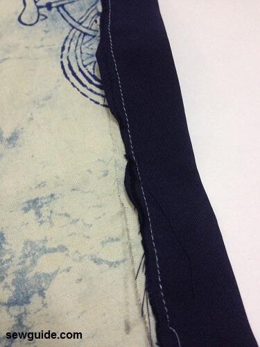 patrón de costura superior de túnica