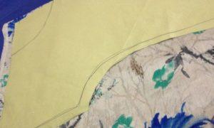 patrón superior de túnica