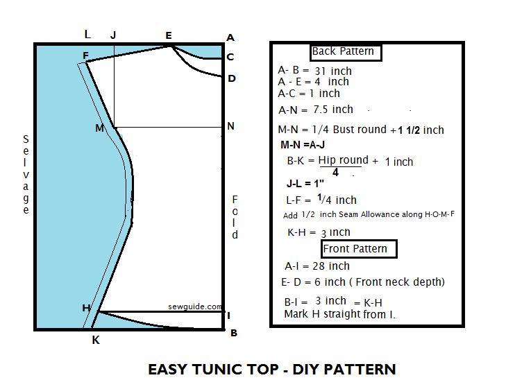 patrón de túnica