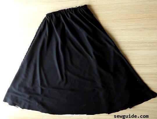 falda completa de bricolaje reversible