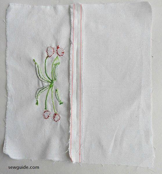 cómo coser la cubierta de la caja de pañuelos
