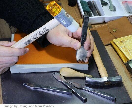 herramientas manuales para cuero