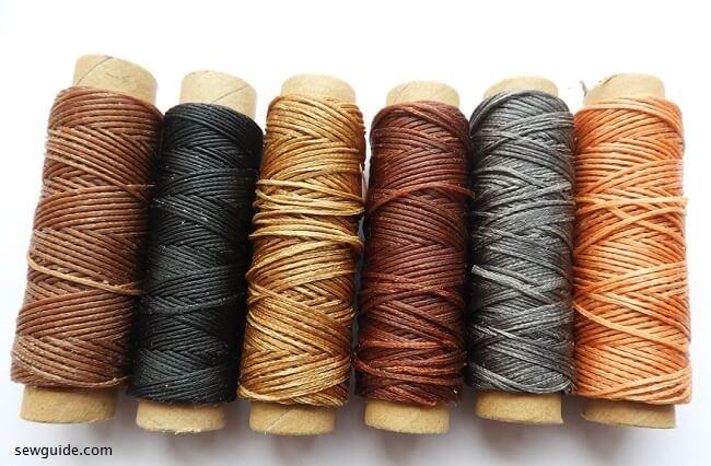 suministros de costura manual para cuero