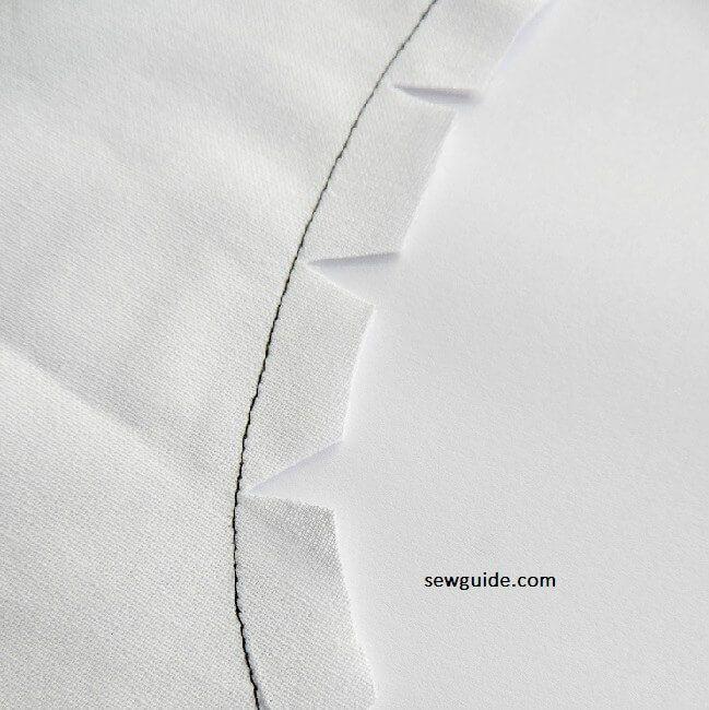coser costuras planas en curvas