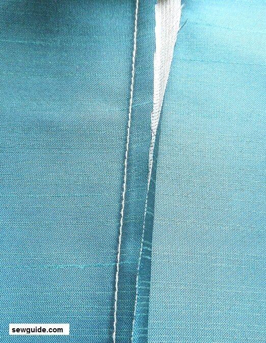 como coser costura plana