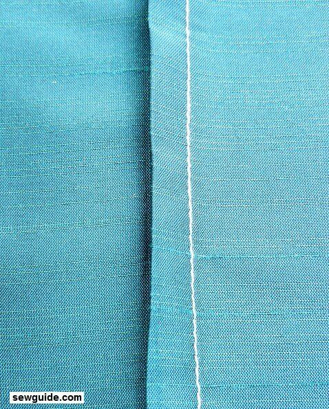 cosido plano costura de costura