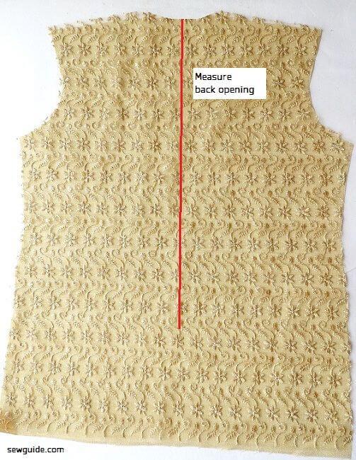 costura de cremallera lapeada