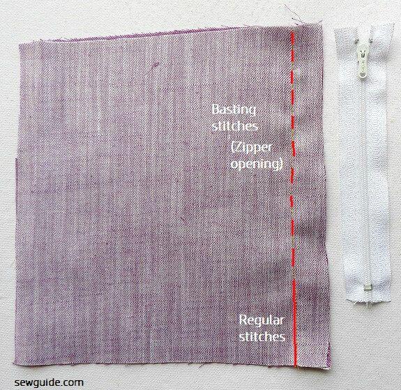 coser una cremallera lapeada