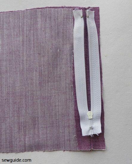 coser cremalleras lapeadas para vestidos