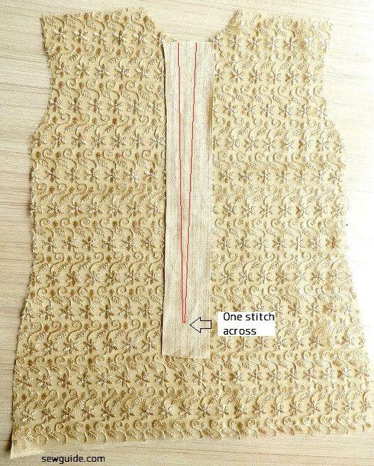 Cómo coser la abertura de la cremallera lapeada