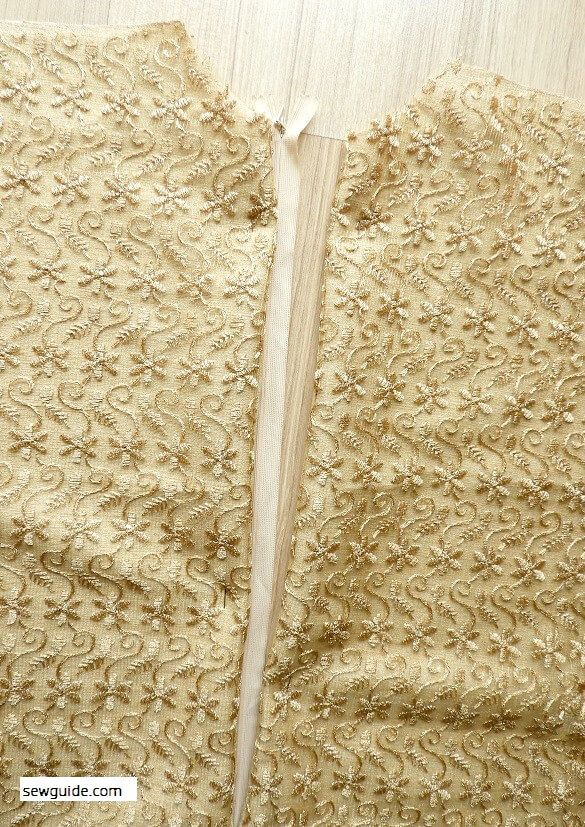 instrucciones de costura de cremallera lapeada