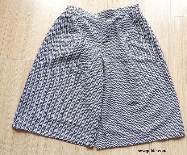 patrón de costura culotte