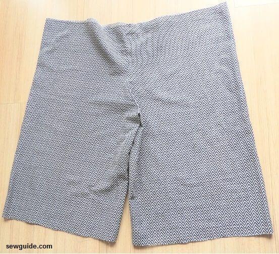 patrón de falda dividida