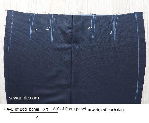 patrón de falda lápiz borrador