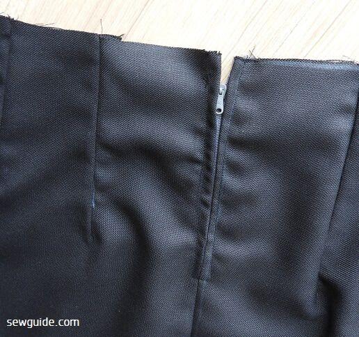 coser un patrón libre de falda lápiz