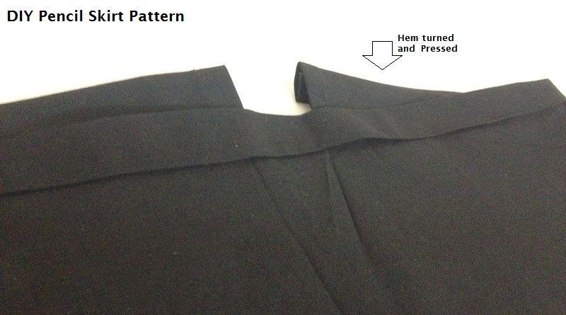 como coser una falda lápiz