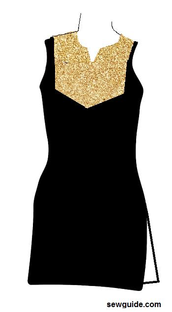 diseño de escote para trajes salwar