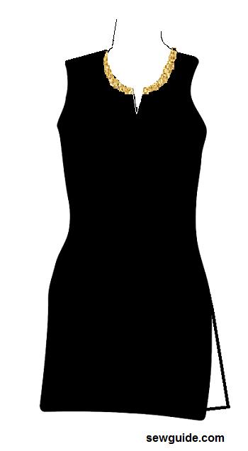 diseño de cuello para kurtis