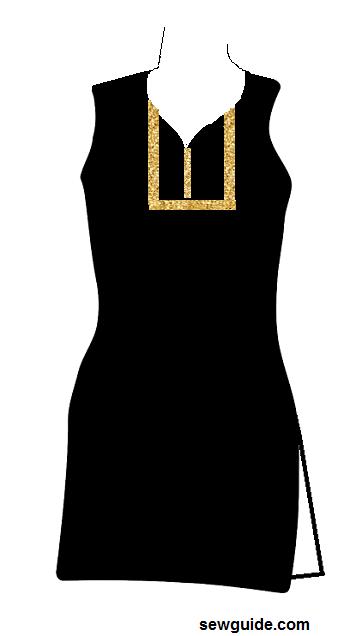 diseños de cuello de traje