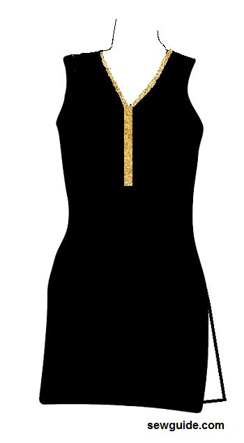 cuello de traje punjabi