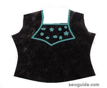 diseños de escote para trajes salwar