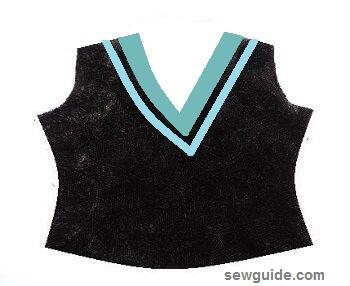 diseños de escote de traje