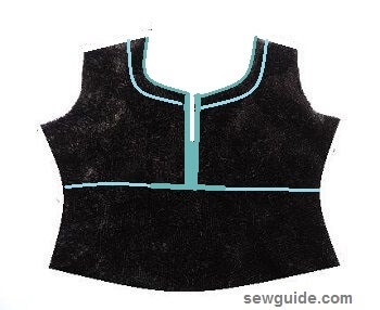 diseños de escote de traje kurti