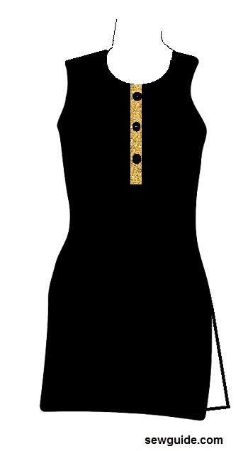 escote de tapeta para trajes