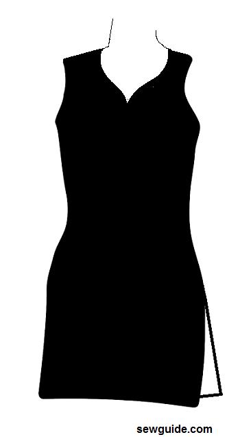 diseño de escote de traje de corazón sudor