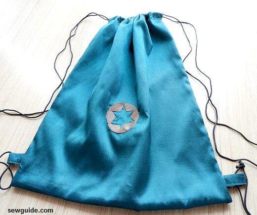 mochila con cordón de bricolaje