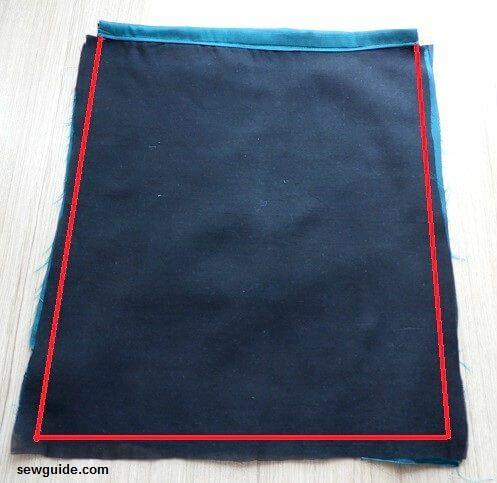 patrón de mochila con cordón de bricolaje