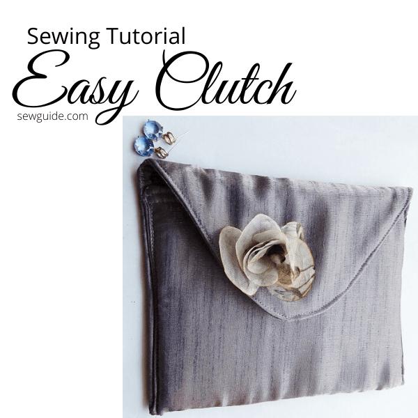 tutorial de costura de embrague fácil