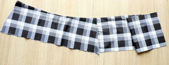 patrón de falda plisada