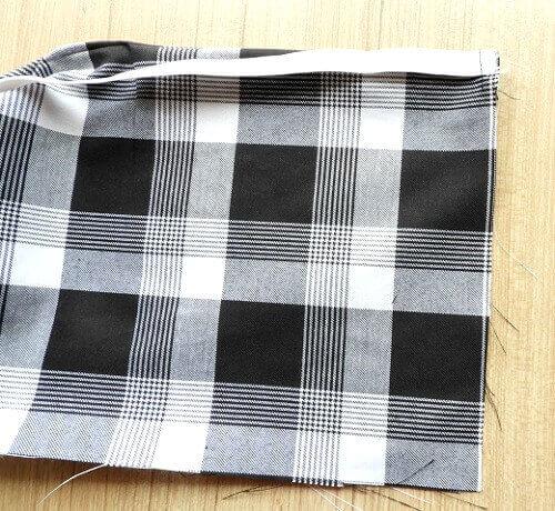 falda plisada caja de costura