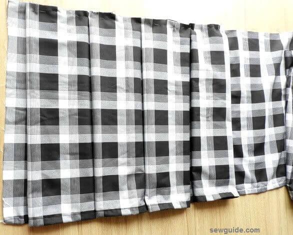 falda plisada patrón de costura diy
