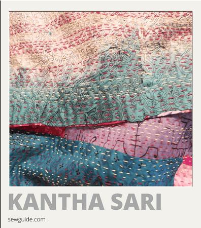 tipos y nombres de sari