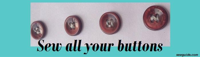 como coser un botón