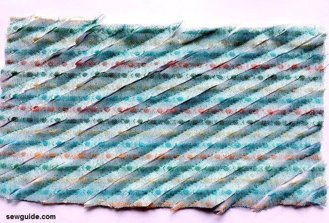 cómo hacer tela de chenilla falsa