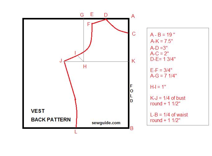 patrón de chaleco
