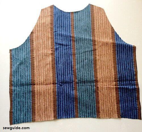 como coser chaleco