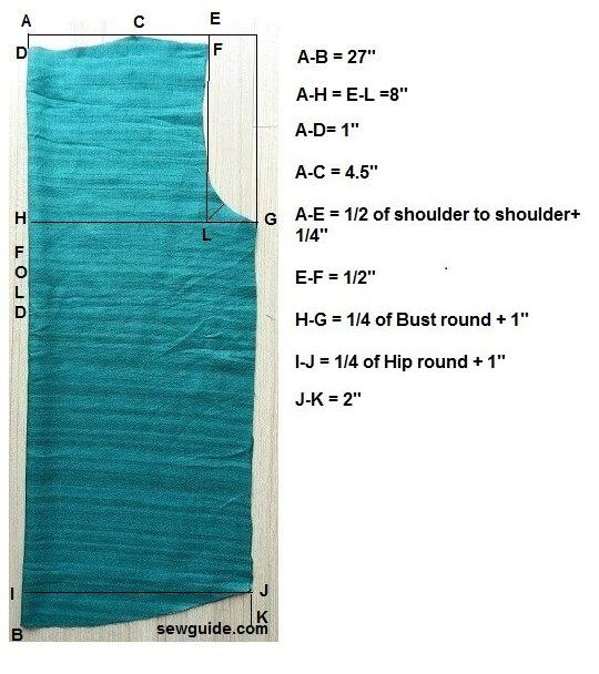 patrón superior de manga hinchada