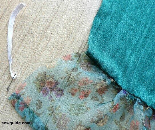 coser una manga hinchada
