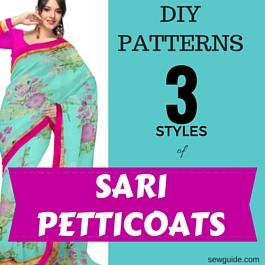 cómo coser enaguas sari