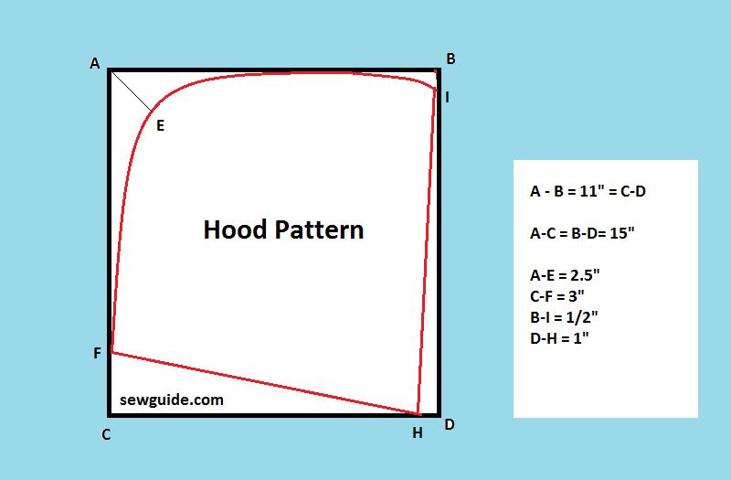 patrón de capucha
