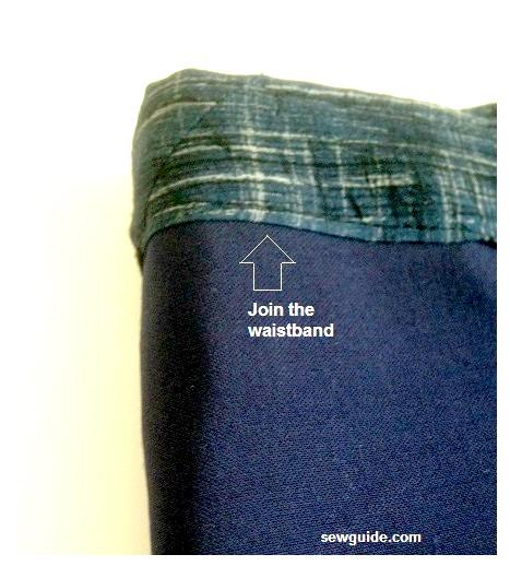 patrón de minifalda con dobladillo asimétrico