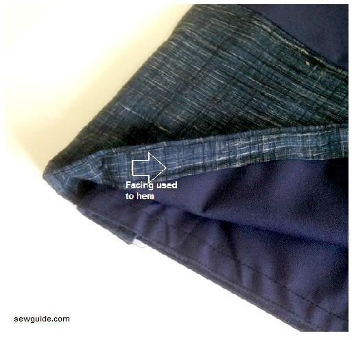 mini falda de abrigo