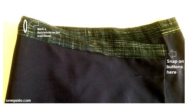 como coser una minifalda cruzada