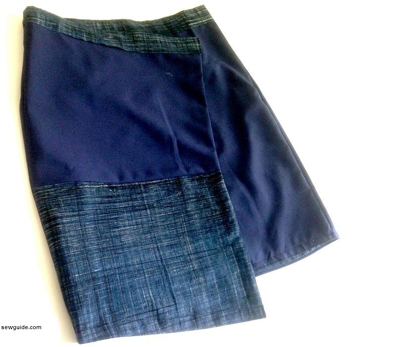 mini falda cruzada asimétrica